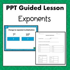 Exponents PPT Guided Lesson 6.EE.1