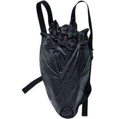 Vampire Bat Latex Gothic Industrial Fetish Cyber Bag Backpack, Rebels Market, fashion, accessories, bags, backpacks, animals, bats, black