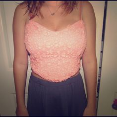 """Selling this """"Peach crop top"""" in my Poshmark closet! My username is: oliviat723. #shopmycloset #poshmark #fashion #shopping #style #forsale #Free People #Tops"""