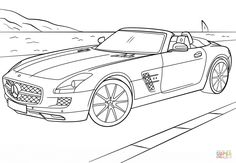 Cars coloring pages Mercedes Sls SLS AMG Black Series ready for takeoff🐝 . Like and tag a friend 👇 . Help us grow th. Mercedes Sls, Carros Mercedes Benz, Mercedes Benz Sls Amg, Bugatti Veyron, Sports Coloring Pages, Cars Coloring Pages, Colouring Sheets, Volkswagen, Audi Tt