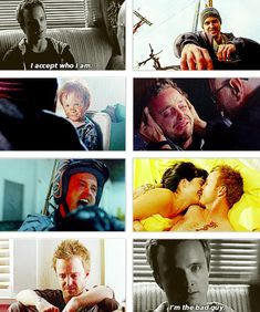 Jesse Pinkman, Breaking Bad. One of my all time favorite characters....you're not the bad guy :(