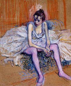 TOULOUSE LAUTREC, HENRI DE, seated dancer, 1890.jpg (710×865)