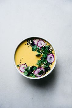 Immune Boosting Roasted Cauliflower Soup | TENDING the TABLE - can make vegan