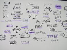 Bullet journal title ideas https://www.youtube.com/watch?v=JAcsUJPK-CM