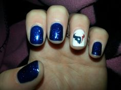 My nails for Adan's Texans Party ! :)