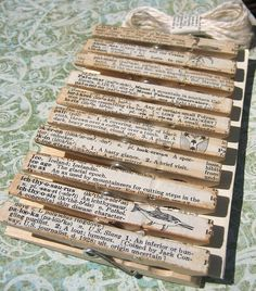"Clothespins done up with a vintage touch. Honestly, must try! =) #DIY #Crafts | ""what a wonderfully sweet and shabby chic idea!"""