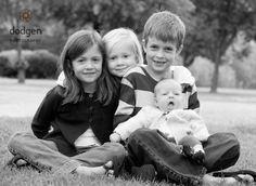 Black and white family portrait ideas
