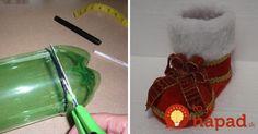 Vyrobte krásne čižmy pre Mikuláša z obyčajnej plastovej fľaše!