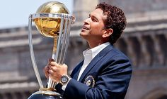 Sachin after achieving his life time dream of winning world cup for India.
