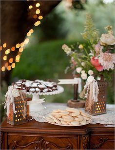 Painted or used as they are, graters make perfect little lanterns and I love the added lace on these!