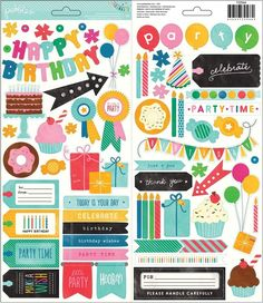 Birthday Wishes - Phrase & Accent Stickers - Pebbles Inc.