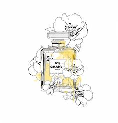 Blooming Love,inspiring by Chanel Art Print - Parfüm - Perfume Chanel Poster, Chanel Print, Chanel Canvas, Plakat Design, Funny Phone Wallpaper, Chanel Perfume, Fashion Wall Art, Photo Wall Collage, Canvas Prints
