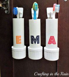 Handyman Magazine, PVC Pipe Storage Solutions, toothbrush holder