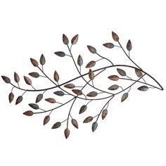 Stratton Home Decor Blowing Leaves Wall Décor
