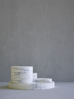 """""""Design is not art. It is about crafting solutions to real issues"""" - MARK BOULTON - (Stacking marble containers by Jon W. Home Decor Furniture, Marble Furniture, Chaise Vintage, Ceramic Tableware, Marble Stones, Marbles, Unique Home Decor, Minimalist Home, Interior Accessories"""