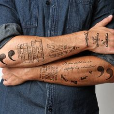 Writer and Book Nerd Tattoos -- I want!!