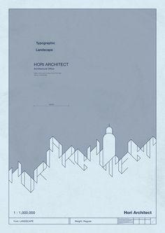 Typographic Landscape - Koji Matsumoto (Grand Deluxe)