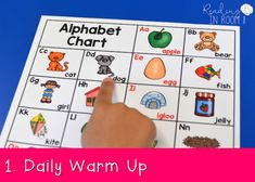An alphabet chart is a great resource for teaching and reinforcing letter names and sounds. Here is a FREE printable alphabet chart along with my top 10 ways to use it (in no particular order) as a part of small group instruction or literacy centers. Printable Alphabet, Alphabet Charts, Free Printable, Teaching Letter Sounds, Teaching Letters, Kindergarten Literacy, Literacy Centers, Preschool, Name Games