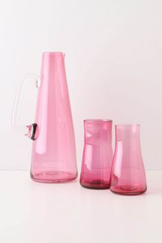 What a lovely color - Pitcher and glasses from Anthropologie