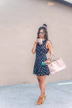 Brunch Outfit with Polka Dots - Get ready for Spring Fashion