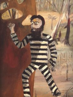 Reminiscent of Sidney Nolans Ned Kelly Painting Sidney Nolan, Cardboard Costume, Ned Kelly, Melbourne Street, Airbrush Art, Automotive Art, Aboriginal Art, Australian Artists, Tigger