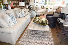 The Nest Egg in Fairfax, VA Lee Industries Sofa & Chair, Dash & Albert rug