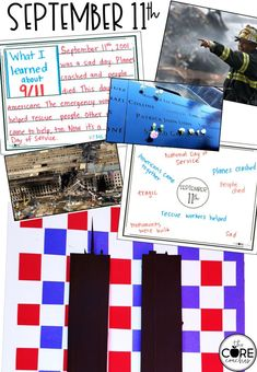 Art project and writing about September 11th.