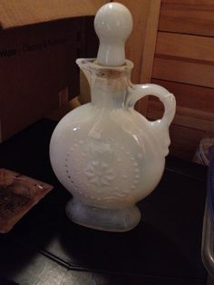 Vintage opalescent Jim beam decanter