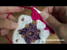 This video will show you how to crochet a traditional granny square, change out your colors, weave in your ends and attach 2 granny squares together.     I used Vanna's Choice size 4 worsted weight yarn and a size 7 or 4.5 mm hook.  Vanna's choice recommends a 6mm or J hook, so any size in that range will work.    pattern for the granny square  Ch 6 ...