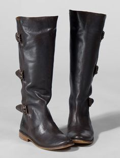 Poor Little Lux Girl: Dye Black Leather Frye Boots Brown