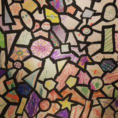 One of January's special projects gave kids the chance to fill in shapes as part of a larger, collaborative work of art! Interactive Art, Broadway, Larger, Fill, Seasons, Shapes, Quilts, Holiday, Artwork