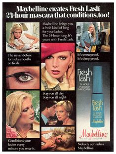 A vintage Maybelline ad from 1978.