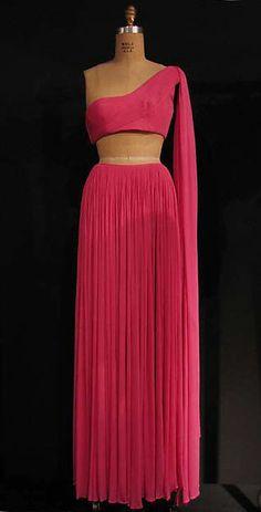 Designer: Madame Grès (Alix Barton) (French, Paris 1903–1993 Var region) Date: 1967 Culture: French Medium: silk