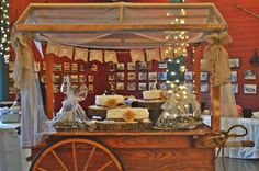 Corral Barn Wagon. Country Wedding Cake. Love is Sweet
