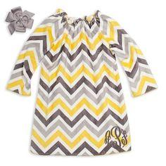 Little Girls' Dresses - Smocked & Monogrammed Baby & Toddler Clothing, Toddler Dress, Toddler Fashion, Kids Fashion, Yellow Chevron, Grey Yellow, Gray, Doodle Girl, Charlotte Dress