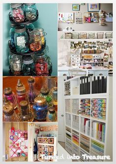 Turned into Treasure: Home Inspiration: Craft Storage Craft Storage, Liquor Cabinet, Old Things, Crafts, Inspiration, Furniture, Home Decor, Homemade Home Decor, Manualidades