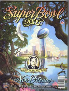 1996 SUPER BOWL 31 PROGRAM GREEN BAY PACKERS VS NEW ENGLAND PATRIOTS NEW ORLEANS #GreenBayPackers