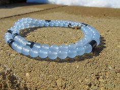 Blue skies smilin' at me!  This Blue Jade beaded necklace with Hematite spacers reminds me of vast open skies. Check it out and see my other semi-precious necklaces and bracelets at BCGemstoneDesign on Esty. #bluejade #necklace #festival #minimalist