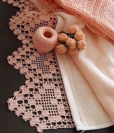 Wide Alcestra Lace pattern by A. Crochet Scarf Easy, Crochet Lace Edging, Crochet Borders, Thread Crochet, Irish Crochet, Hand Crochet, Crochet Stitches, Crochet Patterns, Crochet Curtains