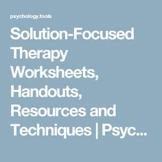 about Therapy-solution focused on Pinterest | Solution focused therapy ...