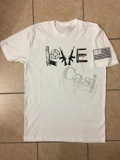 Gun L-O-V-E by CasiCustoms on Etsy