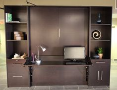 a Murphy Desk Bed ready to go to work  © Murphy DeskBeds ~ 2012 Carolyn Himes Imagery