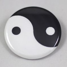 Yin and Yang  Great as ID badge holder or pinback button to accessorize!  www.badgepops.com