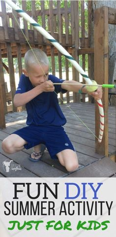 Fun outdoor summer activity. Easy summer activity for boys and girls!