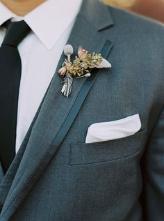 simple boutonniere on modern suit Wedding Tux, Elegant Wedding, Wedding Ideas, Simple Weddings, Real Weddings, Modern Suits, Ceremony Backdrop, Groom Style, Sweet Couple