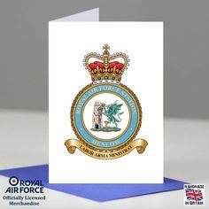 RAF Henlow Station Crest Badge Presentation Promotion Retirement Card Gift