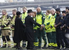 Swedish Royals attend a minute of silence for the truck attack victims