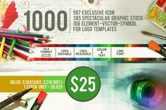 1000 Graphics for Logo Designs