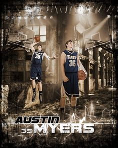 Custom basketball sports poster created from your photos. View and order yours at http://anythingphotos.com/projects/photos/sports