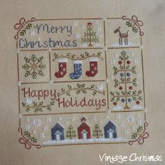 Cross Stitch Patterns Fallen in love with LHN and CCN patterns: Vintage Christmas Xmas Cross Stitch, Cross Stitch Needles, Cross Stitch Samplers, Cross Stitch Charts, Cross Stitch Designs, Cross Stitching, Cross Stitch Embroidery, Embroidery Patterns, Cross Stitch Patterns